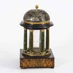 Biedermeier table lighter in the shape of a temple