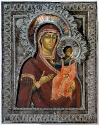 Icon of the mother of God of Smolensk with Silberoklad