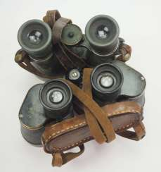 Soviet Union: binoculars - 2 copies. Each metal housing