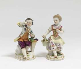 Two Meissen gardeners' children, after a model by JJ KÄNDER