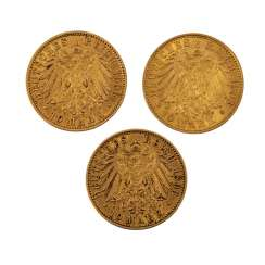 German Empire / Prussia - 3 x 10 marks,
