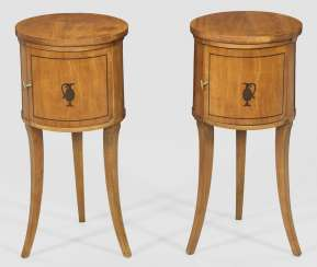 Pair Of Biedermeier-Style Drum Cabinets