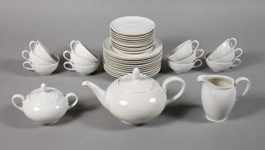 Tea set of the SS Porzellan Manufaktur Allach