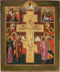 LARGE-FORMAT STAUROTHEK WITH THE CRUCIFIXION OF CHRIST Russia