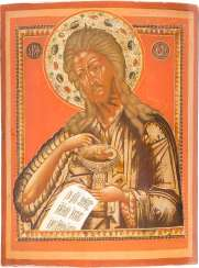 A BIG ICON WITH JOHN THE BAPTIST FROM DEESIS