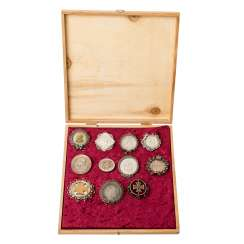Mixed lot of souvenir medals / souvenir brooches 1870/71,