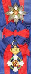 Italy: military order of Savoy, 2. Model (1855-1946), Grand Cross Set.