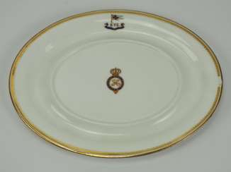 Prussia: Imperial Yacht Irene: food service gravy boat plate from the wardroom.