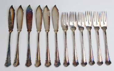 Wilkens fish cutlery * Chippendale *