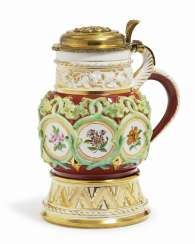 Wine jug, Nymphenburg, mid-19th century. Century, model by E. N. Neureuther