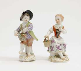 Meissen, model by J. J. Kändler . Two Gardener's Children