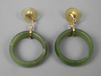 Pair of earrings with Jade