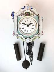 Clock model / Bauernuhr / wall clock with porcelain sign circa 1890.