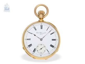 Pocket watch: important, heavy-weight Patek Philippe Pocket chronometer No. the 47756, Observatory chronometer with a cylindrical spiral, Geneva, 1875, with the master excerpt from the book