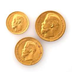 Russia/GOLD - Nicholas II's collection, with about 23.1 g of a fine, consisting of: