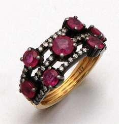 Elegant Ruby Diamond Ring