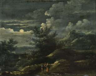 Netherlands (?) 17./18. Century, landscape in the moonlight
