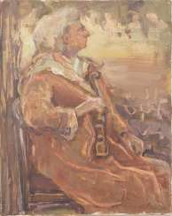 UNKNOWN ARTIST: OLD MAN WITH VIOLIN