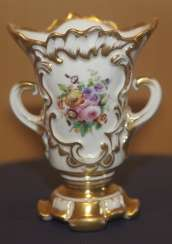 Vase with flowers by the children's service. The Imperial porcelain factory