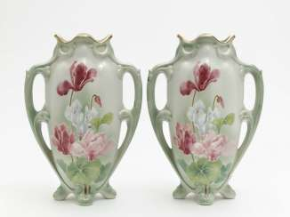A pair of amphora vases, Keller & Guerin, Lunéville, around 1880