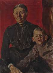 Mother with child (Walter Schulze). 1891