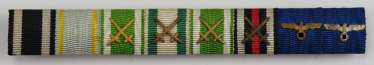 Saxony: Large Ribbonbar of valor officer with 8 awards Colonel Georg resin.