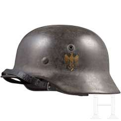 Stahlhelm M 40 of the Kriegsmarine with a badge