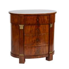 OVAL CHEST OF DRAWERS