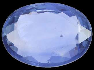 Sapphire: natural blue sapphire, approx. 3,92 ct