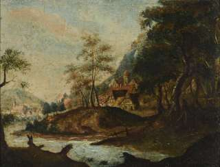 Small baroque landscape painting