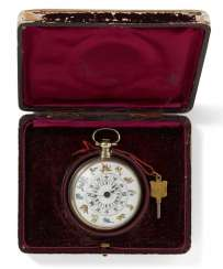 Pocket watch with twelve Chinese zodiac in color