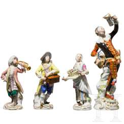 Four figures from the Meissen porcelain factory, 20th century