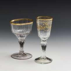 2 different goblets