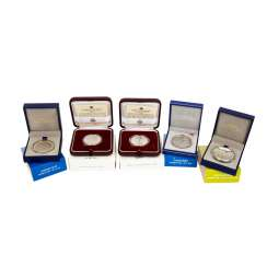 Silver Proof Commemorative Coins San Marino and France - Nicely presented