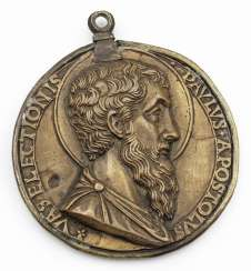 Rare Renaissance Bronze medal with the effigies