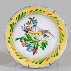 Dish with bird decor