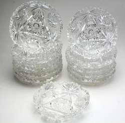 Set Of Crystal Bowls
