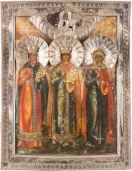 ICON WITH THE THREE MARTYRS INSIDE WITH SILVER BASMA