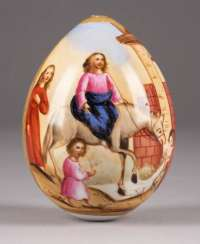 LARGE EASTER EGG WITH THE ENTRY OF CHRIST IN JERUSALEM Russia