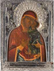 LARGE-SCALE ICON OF THE MOTHER OF GOD OF TOLGA (TOLGSKAJA) WITH SILVER RIZA