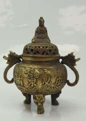 China: censer with seated guanyin.