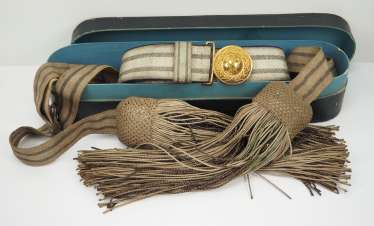 Prussia: field binding and parade sash for officers of the infantry and cavalry.