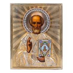 A rare icon of Saint Nicholas the Wonderworker