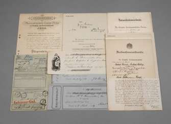 Collection of official documents of Central Germany, around 1900