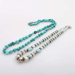 Vintage 2 Stone Chains: 1 Turquoise Chain