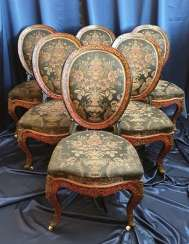 A set of chairs Buhl, second floor. XIX century.