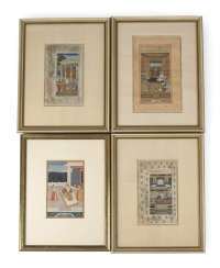 FOUR MINIATURE PAINTINGS, INDIA