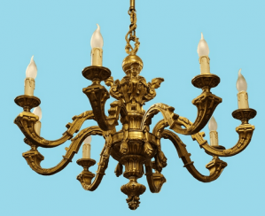 Bronze chandelier 19th century
