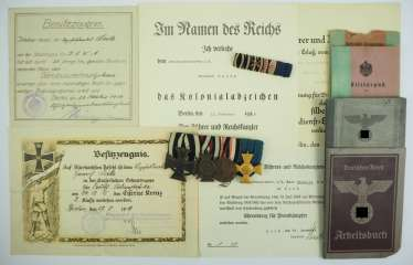 Estate of a Vice-Sergeant of the schutztruppe for German South West Africa.