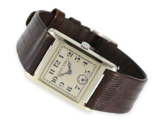 Watch: extremely rare Vacheron & Constantin Art Deco watch in white gold, approx 1925